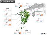 2019年02月08日の九州地方の実況天気