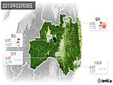 2019年02月08日の福島県の実況天気