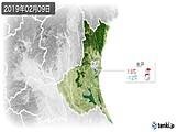 2019年02月09日の茨城県の実況天気