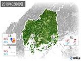 2019年02月09日の広島県の実況天気