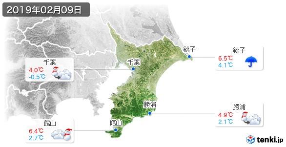 千葉県(2019年02月09日の天気