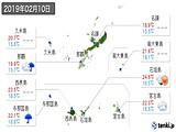 2019年02月10日の沖縄県の実況天気