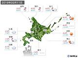 2019年02月11日の北海道地方の実況天気