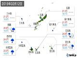 2019年02月12日の沖縄県の実況天気