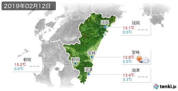 宮崎県(2019年02月12日の天気