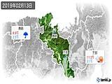 2019年02月13日の京都府の実況天気