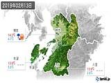 2019年02月13日の熊本県の実況天気