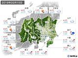 2019年02月15日の関東・甲信地方の実況天気