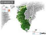 2019年02月17日の和歌山県の実況天気