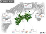 2019年02月18日の四国地方の実況天気