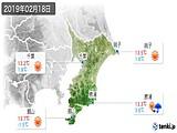 2019年02月18日の千葉県の実況天気