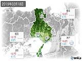 2019年02月18日の兵庫県の実況天気