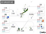 2019年02月18日の沖縄県の実況天気