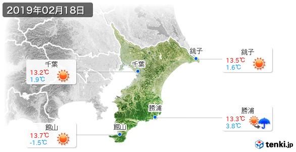 千葉県(2019年02月18日の天気