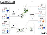 2019年02月19日の沖縄県の実況天気