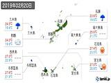 2019年02月20日の沖縄県の実況天気