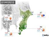 2019年02月21日の千葉県の実況天気