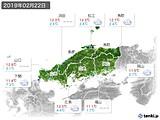2019年02月22日の中国地方の実況天気