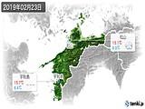 2019年02月23日の愛媛県の実況天気