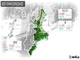 2019年02月24日の三重県の実況天気