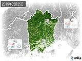 2019年02月25日の岡山県の実況天気