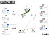 2019年02月25日の沖縄県の実況天気