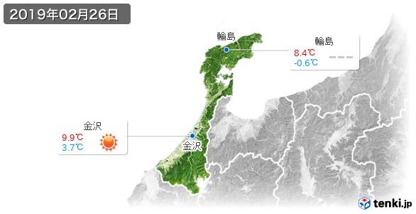 石川県(2019年02月26日の天気