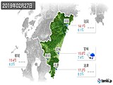 2019年02月27日の宮崎県の実況天気