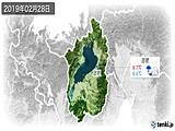 2019年02月28日の滋賀県の実況天気