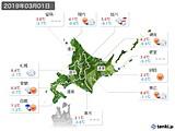 2019年03月01日の北海道地方の実況天気