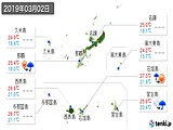 2019年03月02日の沖縄県の実況天気