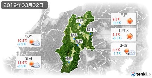 長野県(2019年03月02日の天気