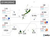 2019年03月04日の沖縄県の実況天気