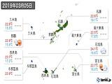 2019年03月05日の沖縄県の実況天気