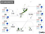 2019年03月07日の沖縄県の実況天気