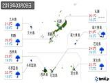 2019年03月09日の沖縄県の実況天気