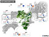 2019年03月11日の近畿地方の実況天気