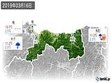 2019年03月16日の鳥取県の実況天気