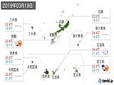 2019年03月19日の沖縄県の実況天気
