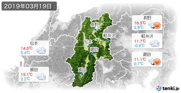 長野県(2019年03月19日の天気