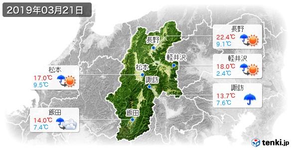 長野県(2019年03月21日の天気
