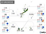 2019年03月25日の沖縄県の実況天気