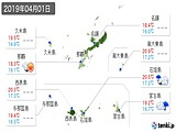 実況天気(2019年04月01日)