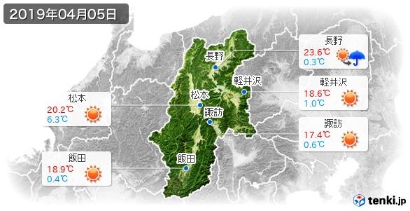 長野県(2019年04月05日の天気