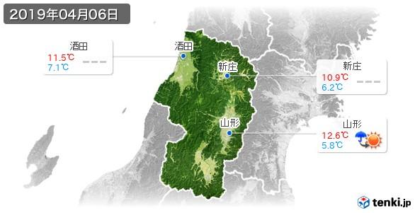 山形県(2019年04月06日の天気