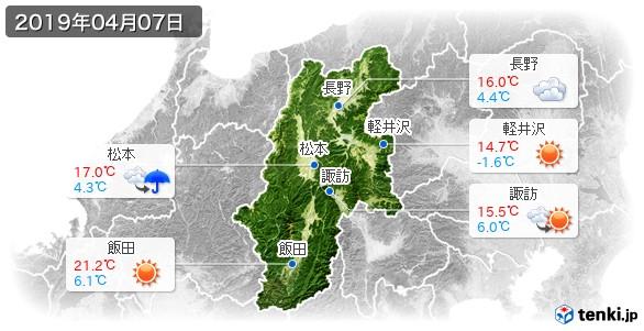 長野県(2019年04月07日の天気