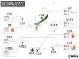2019年04月08日の沖縄県の実況天気