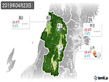 2019年04月23日の山形県の実況天気