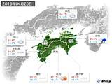 2019年04月26日の四国地方の実況天気