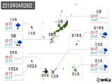 2019年04月28日の沖縄県の実況天気